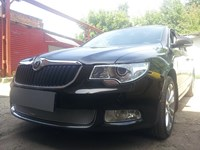 Защита радиатора Skoda (шкода) Superb 2009-2013 chrome PREMIUM