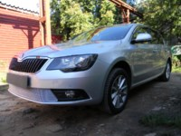Защита радиатора Skoda (шкода) Superb 2014- chrome PREMIUM